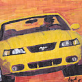 Cobra Mustang by David Poyant Paintings