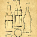 Coca Cola Bottle Patent Art 1937 Blueprint Drawing by Edward Fielding