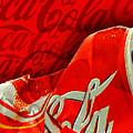 Coca-cola Can Crush Red Logo Background by Tony Rubino