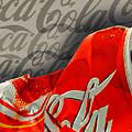 Coca-cola Can Crush Silver Sepia Logo Background by Tony Rubino