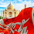 Coca-cola Can Trash Oh Yeah - And The Taj Mahal by Tony Rubino