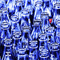 Coca-cola Coke Bottles - Return For Refund - Square - Painterly - Blue by Wingsdomain Art and Photography