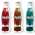 Coca Cola Coke Bottles Three 20160220 Square by Wingsdomain Art and Photography