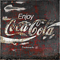 Coca Cola Grunge Sign by John Stephens