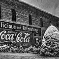 Coca Cola Sign In Bw by T Lowry Wilson