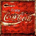 Coca Cola Square Soft Grunge by John Stephens