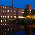 Cocheco Mills At Blue Hour Dover New Hampshire by Dawna Moore Photography