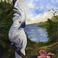 Cockatoo And Orchid by Anne Kushnick