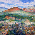 Cockscomb Butte Sedona Arizona Usa 2003  by Enver Larney