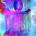 Coco Chanel Liquidated Logo Colorful by Del Art