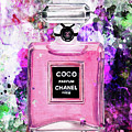 Coco Chanel Parfume Pink by Del Art
