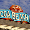 Cocoa Beach Pier Sign by David Lee Thompson