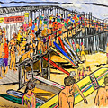 Cocoa Beach Pier/surf Festavil by W Gilroy
