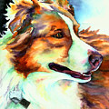 Cocoa Lassie Collie Dog by Christy  Freeman