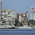 Cocoa Village Marina And Surroundings From The Indian River by Bradford Martin