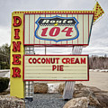 Coconut Cream Pie At The Route 104 Diner by Edward Fielding