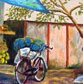 Coconut Stand by Art Nomad Sandra  Hansen