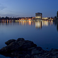 Coeur D Alene Skyline Night by Idaho Scenic Images Linda Lantzy