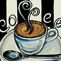 Coffee At The Cafe by Elizabeth Robinette Tyndall
