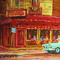 Coffee Bar On The Corner by Carole Spandau