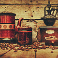 Coffee Bean Grinder Beside Old Pot by Jorgo Photography - Wall Art Gallery