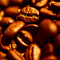 Coffee  Beans- Gold by Krzysztof Dac