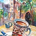Coffee Break In Neapoli In Crete by Miki De Goodaboom