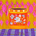 Coffee Cup - Floral Eclectic Design - Funky Colors Illustration by Patricia Awapara