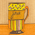 Coffee Mug - Java Cup - Cup Of Joe - Morning Coffee Illustration Art by Patricia Awapara