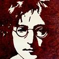 Coffee Painting John Lennon by Georgeta  Blanaru