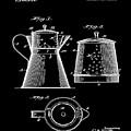 Coffee Pot Patent 1916 Black by Bill Cannon