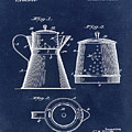 Coffee Pot Patent 1916 Blue by Bill Cannon