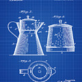 Coffee Pot Patent 1916 Blue Print by Bill Cannon