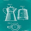 Coffee Pot Patent 1916 Green by Bill Cannon