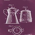 Coffee Pot Patent 1916 Red by Bill Cannon