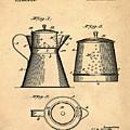 Coffee Pot Patent 1916 Sepia by Bill Cannon