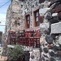Coffee Shop In Santorini by Maria Woithofer