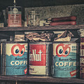 Coffee Tins All In A Row by Scott Norris
