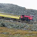 Cog Railway On Top Of Mt Washington by Kenneth Bourassa