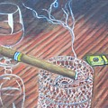 Cohiba And  Wine by Charles Vaughn