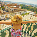 Coimbra Panorama Woman by Benny Marty