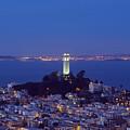 Coit Tower At Dusk San Francisco California by Carol M Highsmith