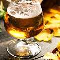 Cold Beer And Delicious Snacks by Vadim Goodwill