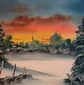 Cold Morning Sunrise by Larry Hamilton
