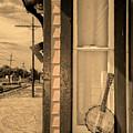 Cold Point Village Station - Banjo Mandolin In Sepia by Bill Cannon