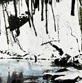 Cold Snow Hill Trees Multimedia Sketch Washington Dc Fine Art by G Linsenmayer