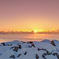 Cold Winter Sunrise by Ricky L Jones