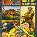 Cole Bros Circus With Clyde Beatty And Ken Maynard Vintage Cover Magazine And Daily Review by R Muirhead Art