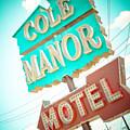 Cole Manor Motel by David Waldo