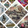 Collage Of Copenhagen  by Mariusz Prusaczyk